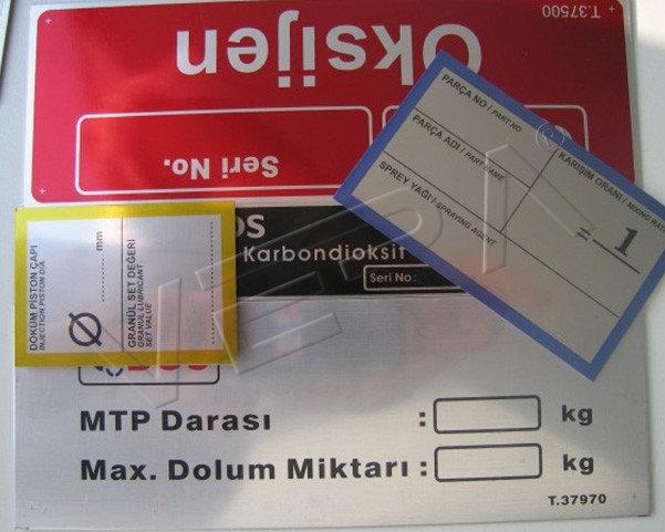 metal baskılı etiket