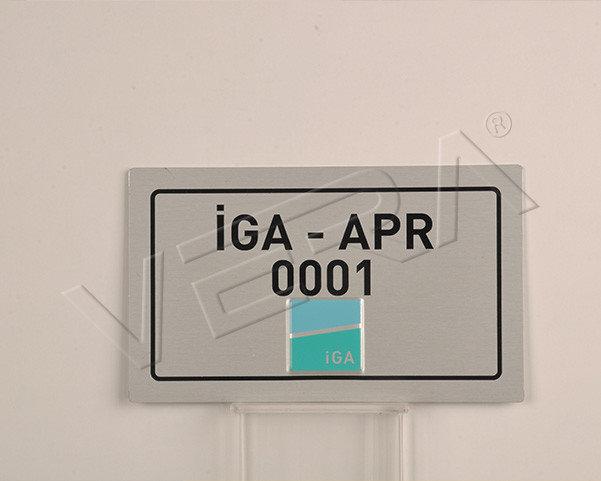 alüminyum boyalı etiket